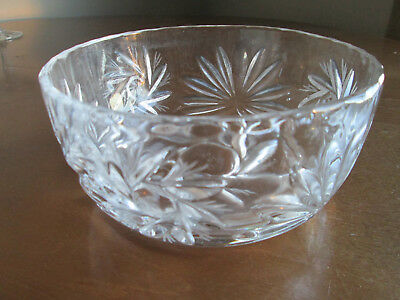 Vintage Crystal Glass Centerpiece / Serving Bowl Pinwheel Pattern