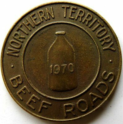 "Northern Territory Beef Road 1 Brass "" STUBLOON "" Token 1970 Very Scarce"