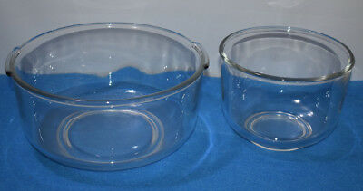 Vtg L S Glass Mixing Bowls OSTER KITCHEN CENTER Sunbeam MIXMASTER Oven Microwave