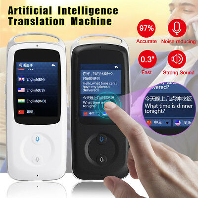 2.4'' Smart Translator Touch Screen 3D Real Time WIFI Pocket  Device 18 Language