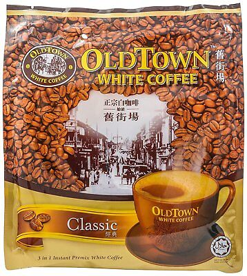 Old Town Coffee 3 in 1 White Coffee Classic 600g x 3 Pkt (Total 3x600g = 1.8kg)