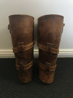 WW1 Light Horse Gaiters Shin Guards Mounted Cavalry