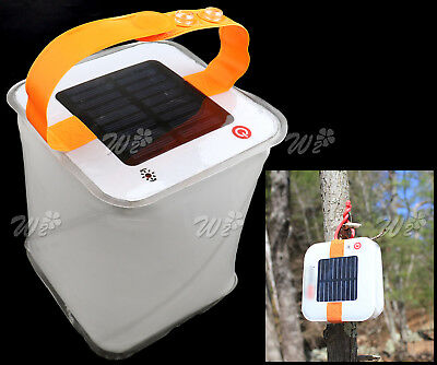 Inflatable LED Light Waterproof Solar Powered Survival Camping OutdoorTent Lamp