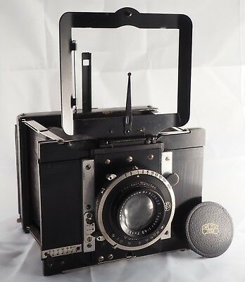 Bellieni Extra-Plat 9 x 12 camera with Zeiss 13.5cm f/4.5 lens, Compur shutter