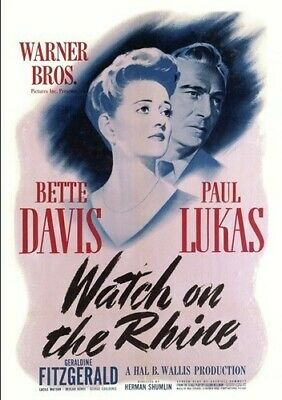 Watch On The Rhine [New DVD] Manufactured On Demand, Full Frame, Amaray Case,