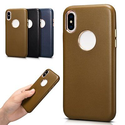 XOOMZ 100% Genuine Sheepskin Leather Back Case Cover Protective Fr iPhone XS Max