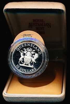 Australia 1989 $10 Silver Proof State Series - Queensland no outer box