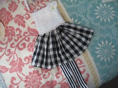 Gorgeous little 1/4 GIRL OUTFIT B&W