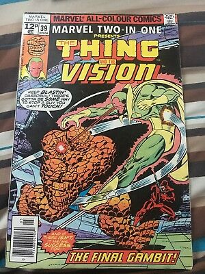 Marvel Two In One 39 High Grade Vf+