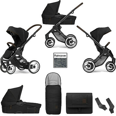 Mutsy Evo Farmer Antracite Black Frame 3 In 1 Pushchair Carrycot & Accessories