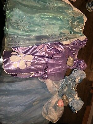 Disney Store Princess Dress Up Lot NWT 5/6