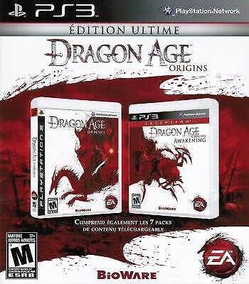 Dragon Age Origins: Ultimate Edition w/Awakenings Expansion PS3 NEW FRENCH ONLY