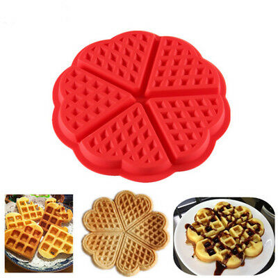 Waffles Silicone Mould Pan Cake Baking Baked Muffin Cake Chocolate Mold Tray VA