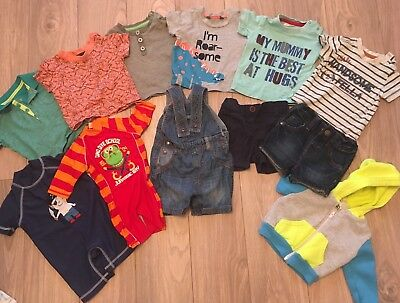 baby boy summer clothes bundle 3-6 months 12 Items