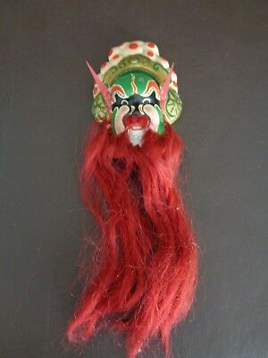 Miniature Chinese Bearded Opera Mask Chalkware? (Cat.#2A040)