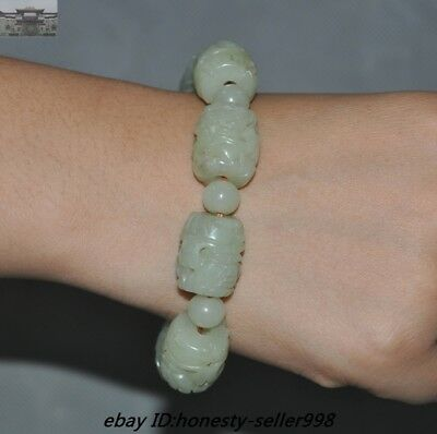 Chinese Hongshan Culture Hetian Jade Carved Sun God Funerary Bracelets bangle