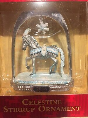 Breyer 2018 Celestine Christmas/Holiday Horse Stirrup Ornament - NIB - STUNNING!