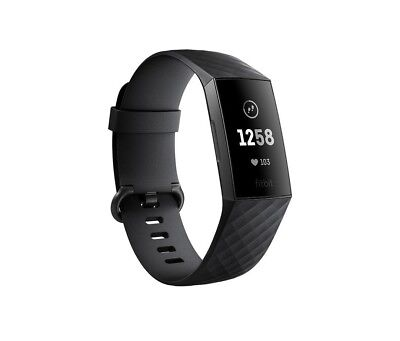 NEW Fitbit Charge 3 (Black/Graphite) Aluminium Fitness Fitness Tracker