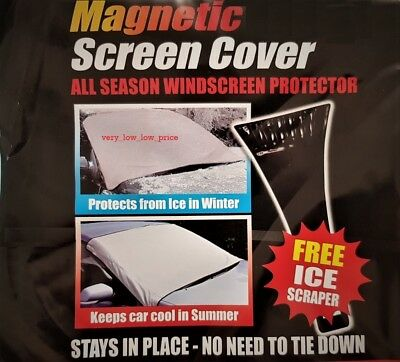Magnetic Car Windscreen Cover Screen Protection Shield Frost Ice Snow Scraper UK
