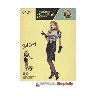 Simplicity Sewing Pattern 8431 DC Comics Bombshell Black Canary Costume