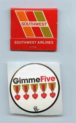 Southwest Airlines You're Gonna Love Our Spirit Matches & 2  Gimme Five Stickers