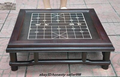 "23""Chinese Rosewood Wood Carved Weiqi Of Go Chessboard Chess Checkerboard Tables"