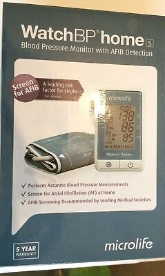 Microlife WatchBP HomeS Blood Pressure Monitor with AF Atrial Fib Detection