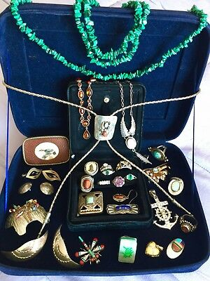Spectacular Sterling Silver Or Stones 30 Pieces Jewelry Some Native American
