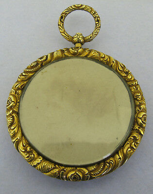 Large Antique Georgian Pinchbeck Embossed Picture Locket Pendant Circa 1830