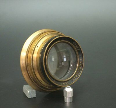 Taylor Hobson Cooke Series II Brass Lens 205mm F4.5 wet plate 4x5 5x7
