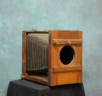 Antique 13x18 or 5x7 Large Format Field Camera Holzkamera wet plate