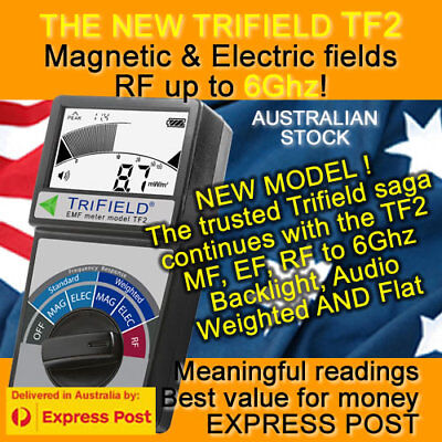 Trifield EMF Gauss Meter TF2 WITH ONLINE COURSE on multiple EMF meters incl TF2