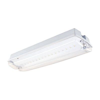 LED NON-MAINTAINED emergency Bulkhead Fitting 3 hour IP65 - 5 Watt
