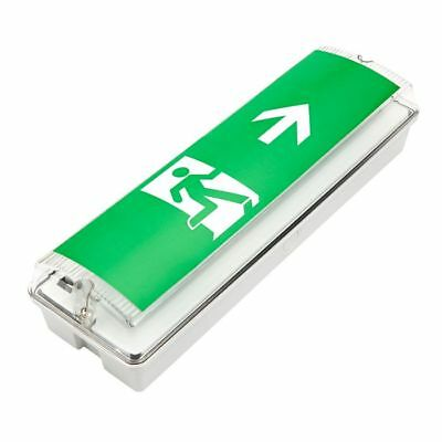 LED NON-MAINTAINED emergency Bulkhead Exit Sign Fitting 3 hour IP65 - 5 Watt