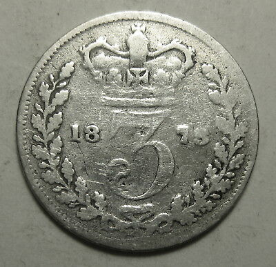 Great Britain Maundy 1873 Three Pence SILVER