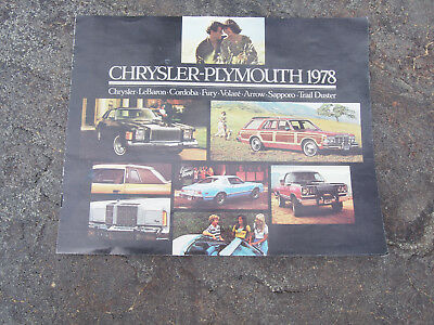 OEM 1978 Chrysler Plymouth Dealership Sales Advertising Brochure
