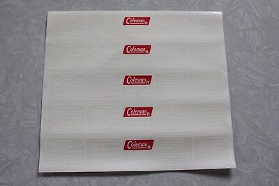 Lot (5) Coleman 321A 621A 331 Lantern Decal  *liquidation*