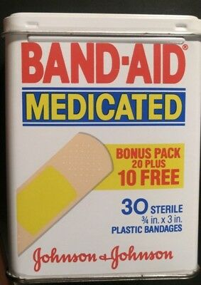 Band Aid Tin, 1984 Vintage Collectible, Mint Condition