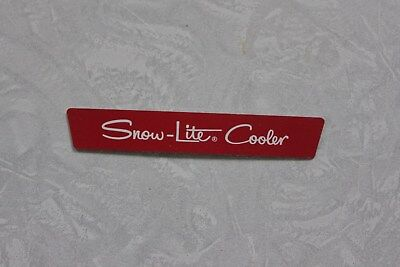 Nos Coleman Snow Lite Cooler Metal Decal Badge