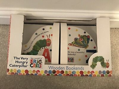 New! Hungry Caterpiller Bookends