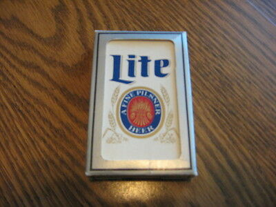 Miller Lite Beer  playing cards  - Mint & crisp   - Very nice looking!!