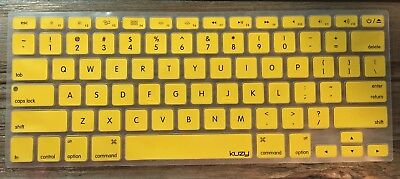 Kuzy Protective Laptop Keyboard Cover Silicone Yellow For Apple MacBook Pro