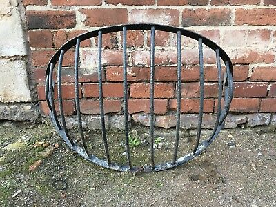 Large Reclaimed Cast Iron Antique Stable Cattle Hay Rack Feeder