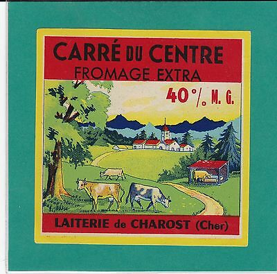 F 518 Fromage Carre Du Centre  Charost  Cher Vaches