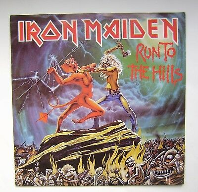 "7"" Single Iron Maiden, Run to the hills, Total eclipse, 1982, original"