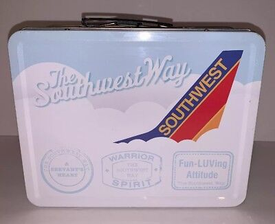 Southwest Airlines Metal Tin Lunch Box Lunchbox Promotional Collectible
