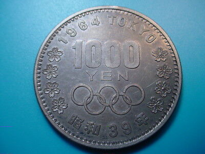 Japan~ Silver 1964 1000-Yen in Excellent Condition!