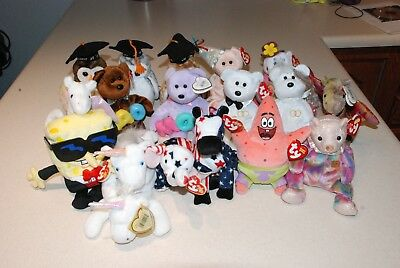 Ty Beanie Babies Big Lot Of 18 Original Assorted With Tags