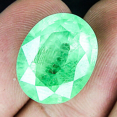 16.58 Cts Museum Size Untreated Famous Columbian Vivid Green Natural Emerald