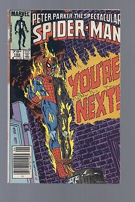 Canadian Newsstand Edition Spectacular Spider man #103 $0.75 Price Variant